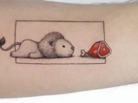 70+ Small and Adorable Tattoos by Ahmet Cambaz from Istanbul