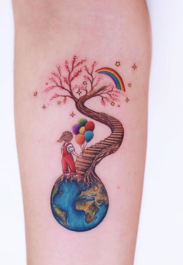 70 Best Unique And Minimal Colorful Tattoos